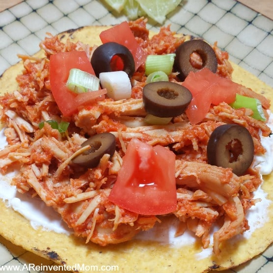 Chicken Tinga Tostadas ~ A Reinvented Mom