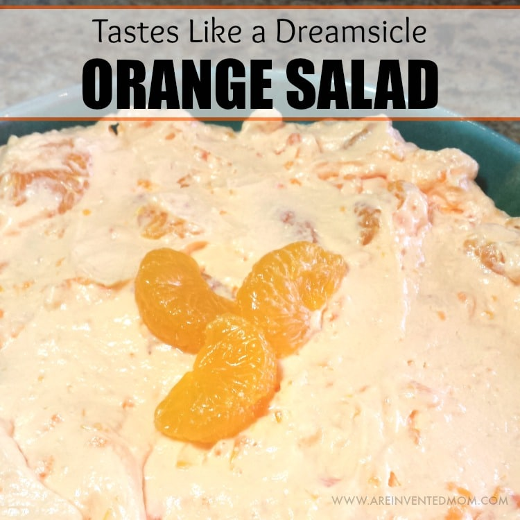 One bite of Orange Salad is all it took to remind me of hot summer days spent munching on Dreamsicles. Now I can enjoy them by the bowlful, no stick required. Orange Salad | A Reinvented Mom