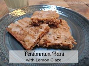 Persimmon Bars with Lemon Glaze