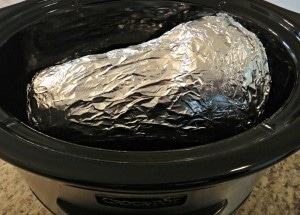Easy Slow Cooker Butternut Squash-Foil Wrap | A Reinvented Mom