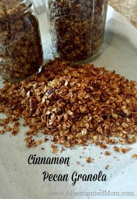Cinnamon Pecan Granola | A Reinvented Mom