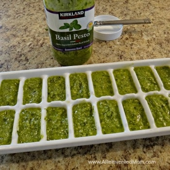 How to Freeze Pesto | A Reinvented Mom