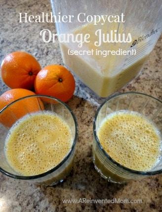 Healthier Copycat Orange Julius (Secret Ingredient) | A Reinvented Mom