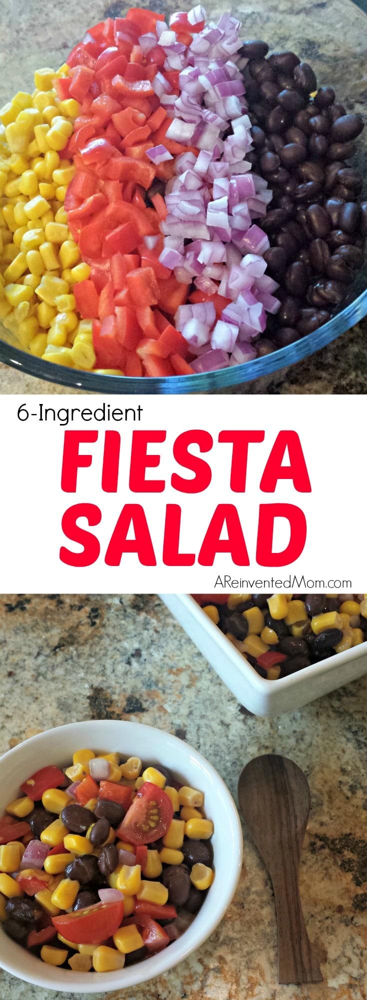 6-Ingredient Fiesta Salad - A Reinvented Mom