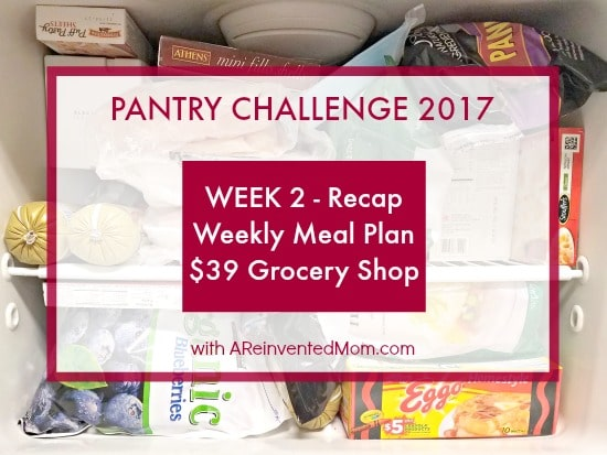 Pantry Challenge 2017 Week 2 - A Reinvented Mom